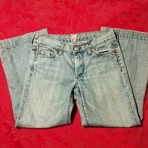 Clearance! 7FAMK Dojo Cropped Jeans - Light Wash